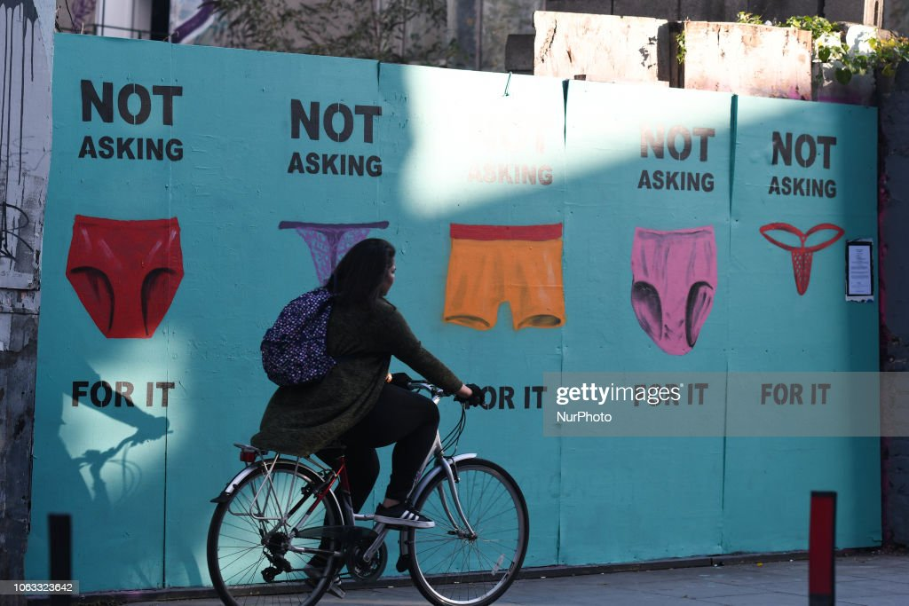 Artists Protest Sexual Violence In Dublin : News Photo