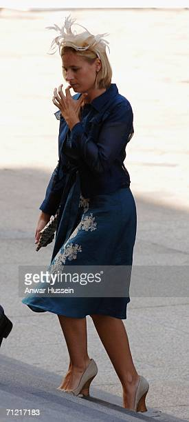 Lady Davina Lewis daughter of the Duke and Duchess of Gloucester arrives at St Paul's Cathedral for a Service of Thanksgiving to mark the Queen's...