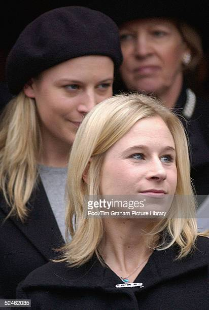Lady Davina Lewis formerly Windsor attends the memorial service for her grandmother HRH Princess Alice at St Clement Danes on February 2 2005 in...