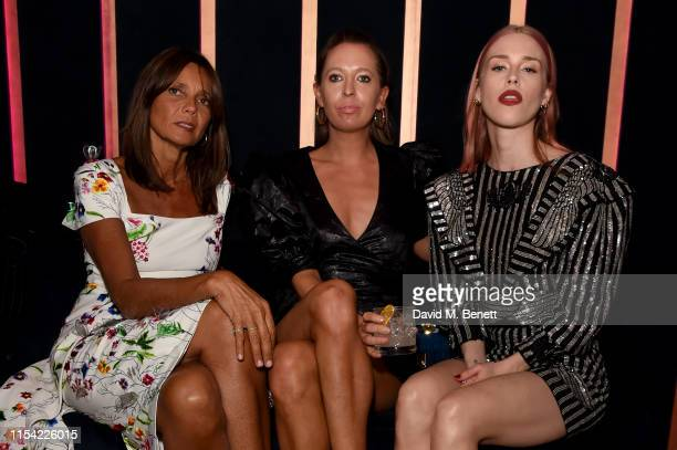 Lady Debonnaire Von Bismarck Sophia Hesketh and Lady Mary Charteris attend Dundas Travelling Flagship on June 06 2019 in London England