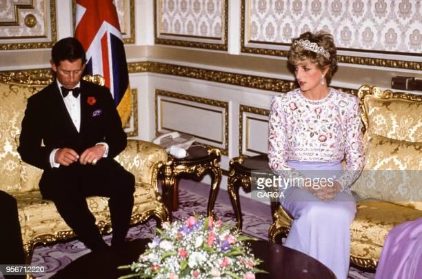 Lady Diana et le Prince Charles à Seoul lors de sa visite en Corée du Sud en novembre 1992