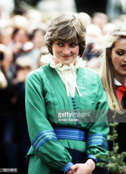 Lady Diana in Romsey Hampshire in March 1981 before her marriage to Prince Charles Prince of Wales The piecrust frill became a Diana trademark
