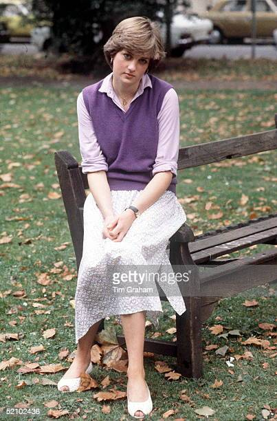 Lady Diana Spencer Age 19 At The Young England Kindergarden School At Stsaviours Church Hall St Georges Sq In London's Pimlico She Is Working There...