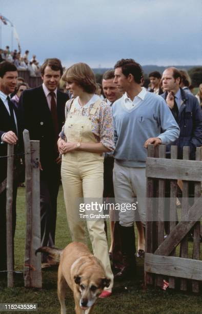 Lady Diana Spencer and her fiancé Prince Charles at Cowdray Park Polo Club In Gloucestershire 12th July 1981
