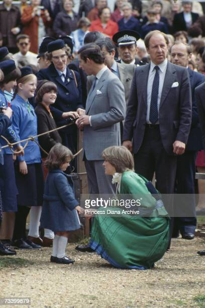 Lady Diana Spencer and Prince Charles visit Broadlands the country estate of Lord Mountbatten of Burma in Romsey Hampshire March 1981