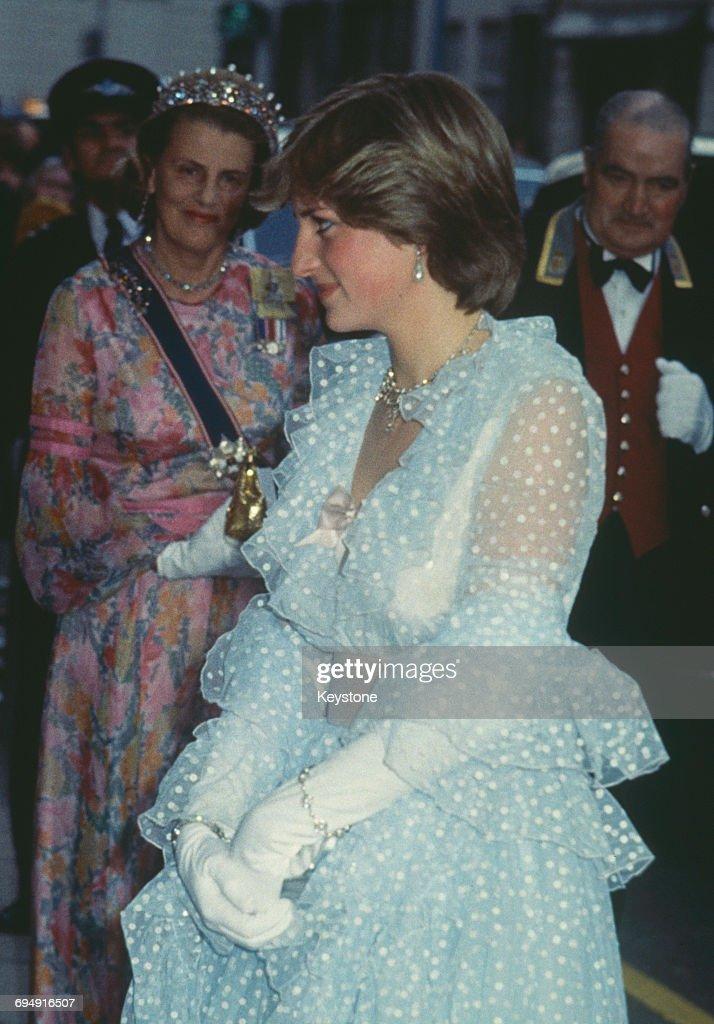 Diana At Claridges : News Photo
