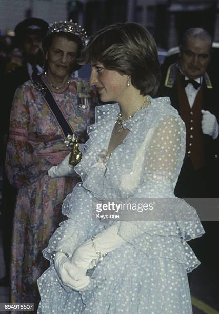 Lady Diana Spencer at a banquet given at Claridges hotel for King Khalid of Saudi Arabia 11th June 1981