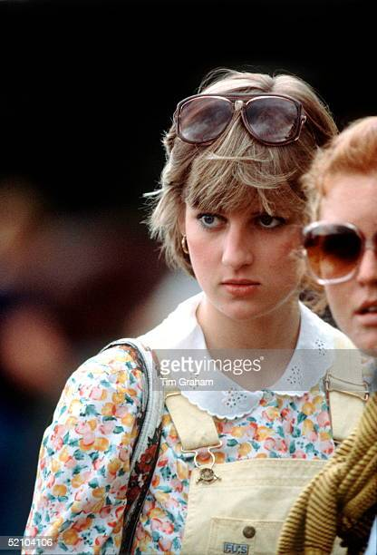 Lady Diana Spencer At Cowdray Park Polo Club.