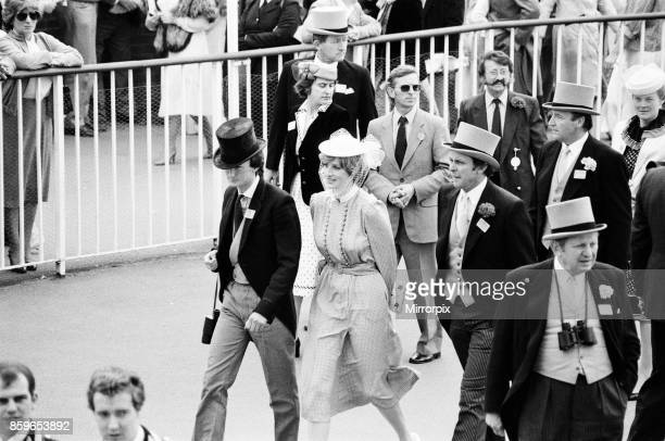 Lady Diana Spencer centre enjoys the day with some friends on the last day of Royal Ascot Ascot 1981 was Lady Diana Spencer's first official visit to...