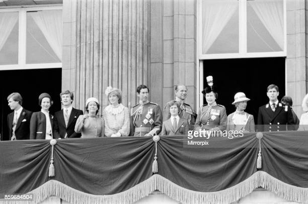 Lady Diana Spencer joins her husband to be Prince Charles the Prince of Wales Queen Elizabeth II and The Royal Family on the balcony at Buckingham...