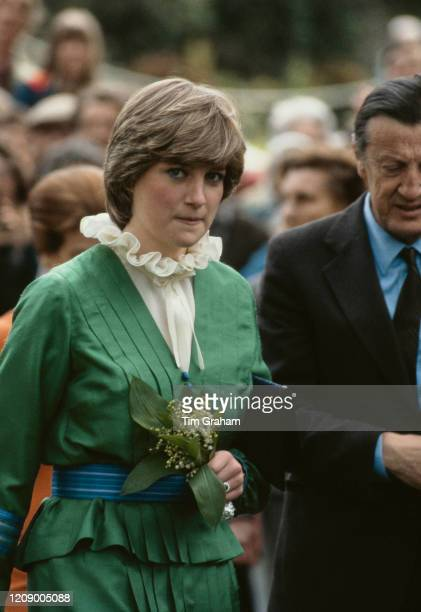 Lady Diana Spencer later Diana Princess of Wales visits Broadlands in Romsey England May 1981