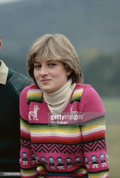 Lady Diana Spencer, later Diana, Princess of Wales visits Craigowan Lodge in the grounds of Balmoral, Scotland, with her fiance Prince Charles, 6th...