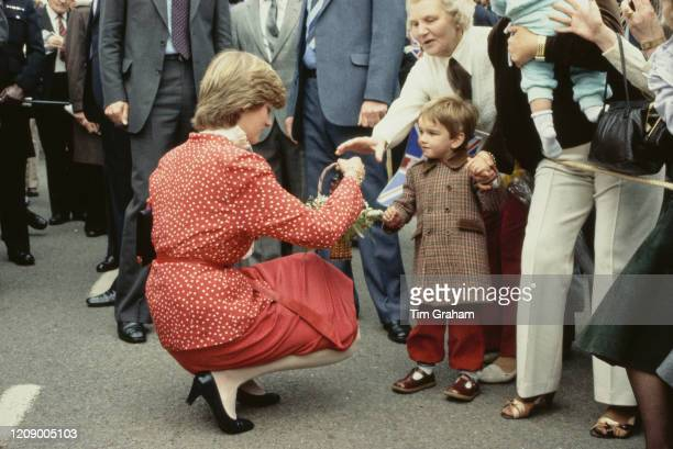 Lady Diana Spencer later Diana Princess of Wales visits Tetbury in Gloucestershire a few weeks before her wedding to Prince Charles 22nd May 1981