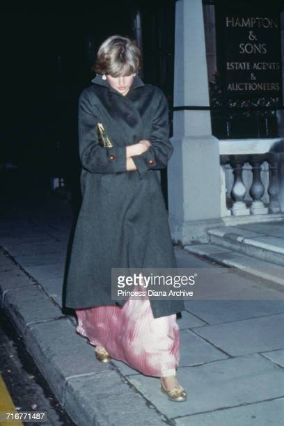 Lady Diana Spencer leaves the Ritz Hotel in London after attending Princess Margaret's 50th birthday party November 1980 Spencer had only recently...