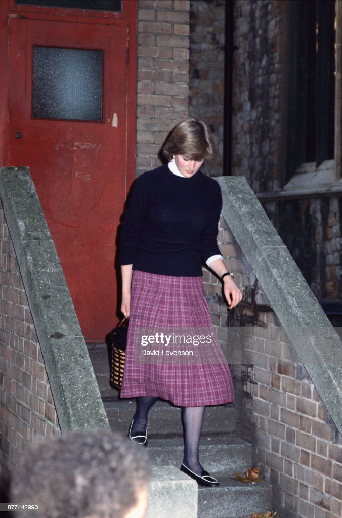 Lady Diana Spencer, leaving the Young England kindergarten ...