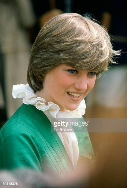 Lady Diana Spencer On A Walkabout At Broadlands The Former Home Of Earl Mountbatten During Her Engagement The Frilly Collar A Distinctive Pie Frill...