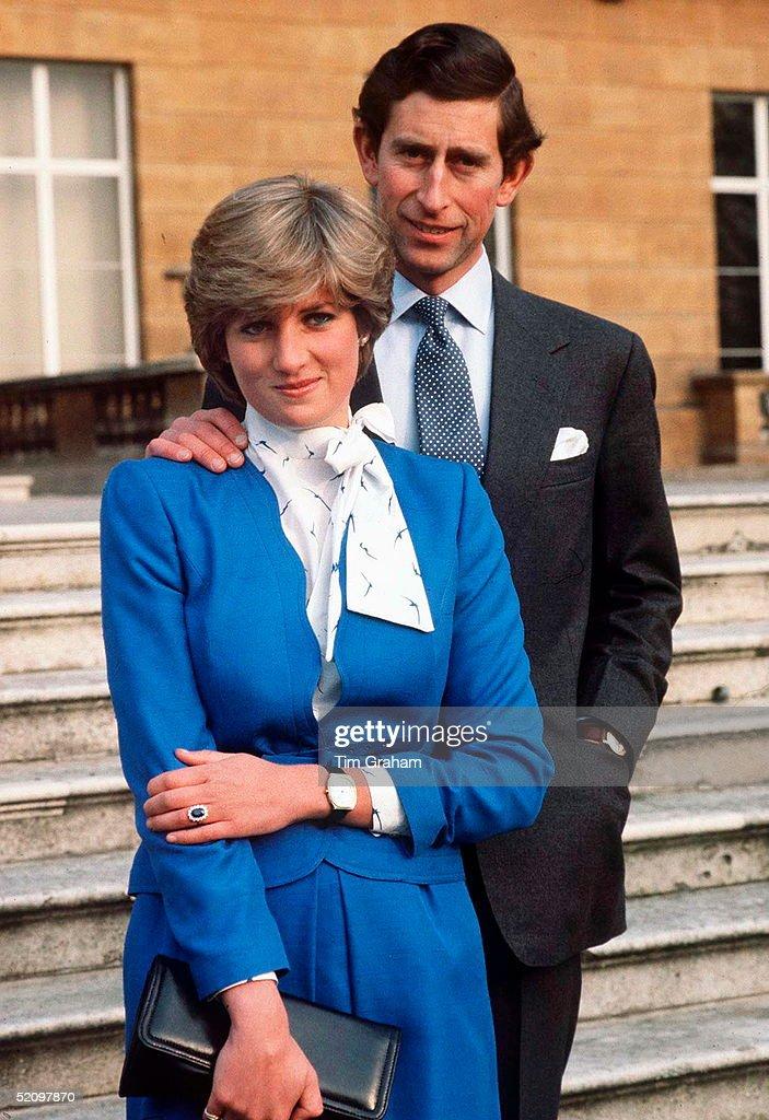 Charles Diana Engagement : News Photo