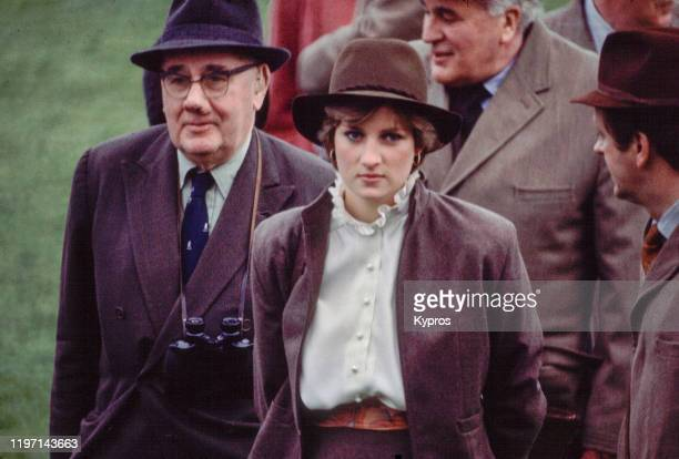 Lady Diana Spencer soon Diana Princess of Wales at Sandown Park Racecourse shortly before her marriage to Prince Charles 13th March 1981 She is...