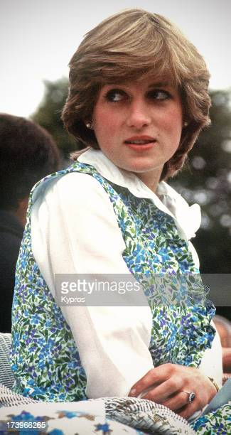 Lady Diana Spencer the future Diana Princess of Wales at a polo match in Hampshire 1981 It was on this occasion that she was driven to tears by press...