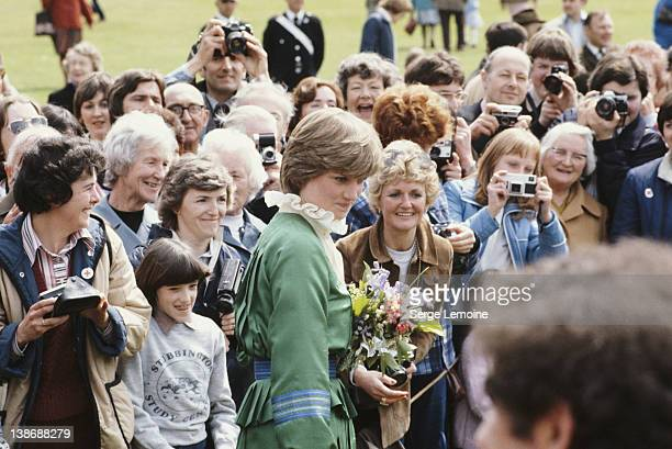 Lady Diana Spencer the future Princess of Wales on a walkabout at Broadlands UK 9th May 1981