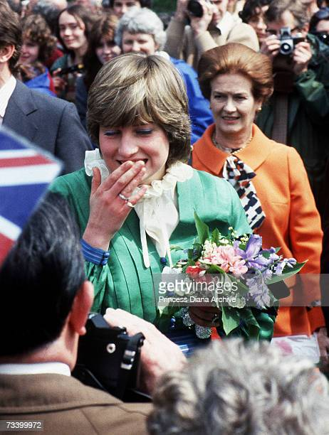 Lady Diana Spencer visits Broadlands shortly after her engagement to the Prince of Wales March 1981