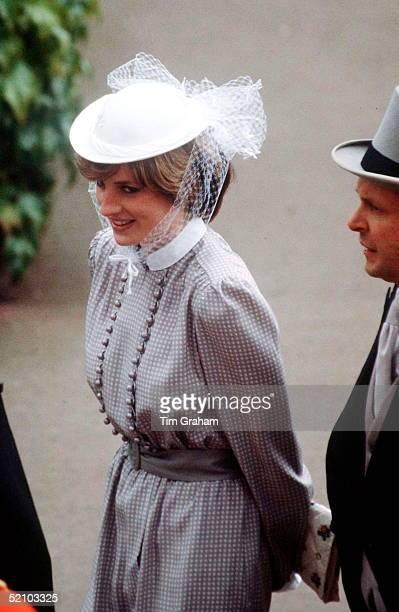 Lady Diana Spencer Walking At Royal Ascot.