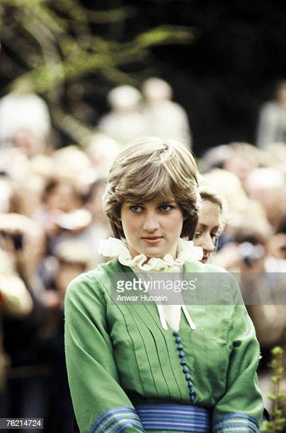 Lady Diana in Romsey Hampshire on March 1981 before her marriage The piecrust frill became a Diana trademark