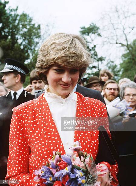 Lady Diana Spencer visits Tetbury in Gloucestershire May 22 two months before her marriage to Prince Charles Prince of Wales Prince Charles's...