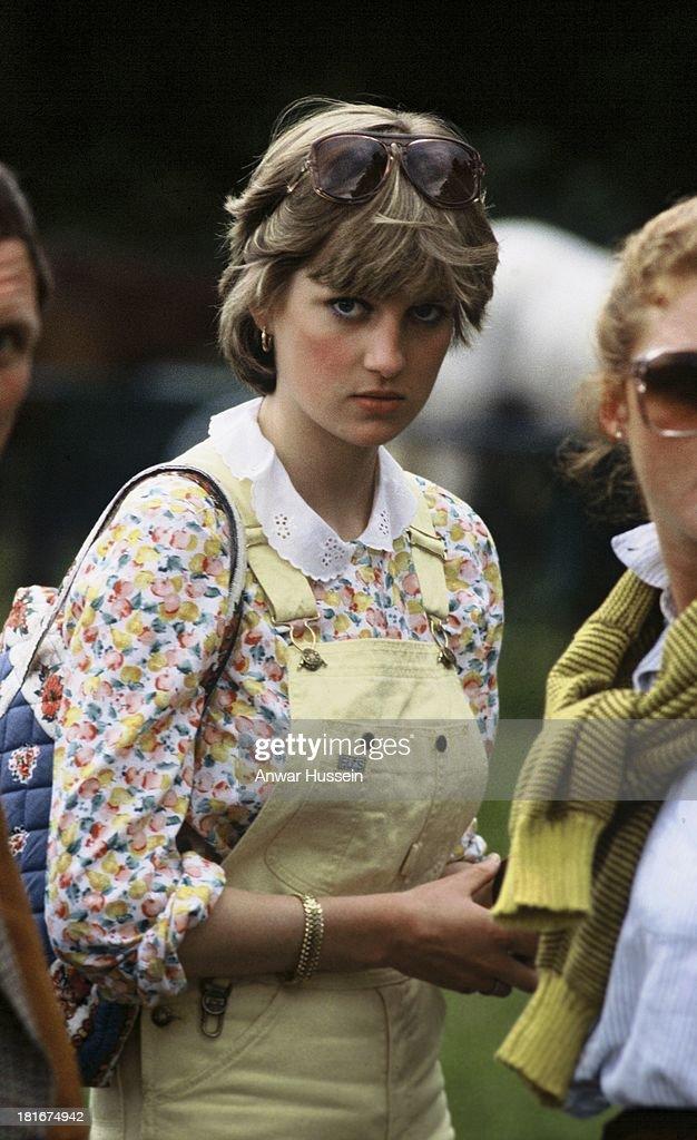 Diana At Polo Match : News Photo