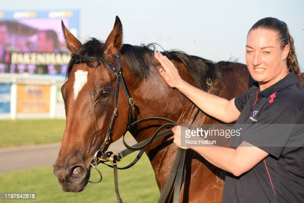 Lady D'oro after winning the Hertz Gippsland FM Maiden Plate at Racingcom Park Racecourse on January 30 2020 in Pakenham Australia