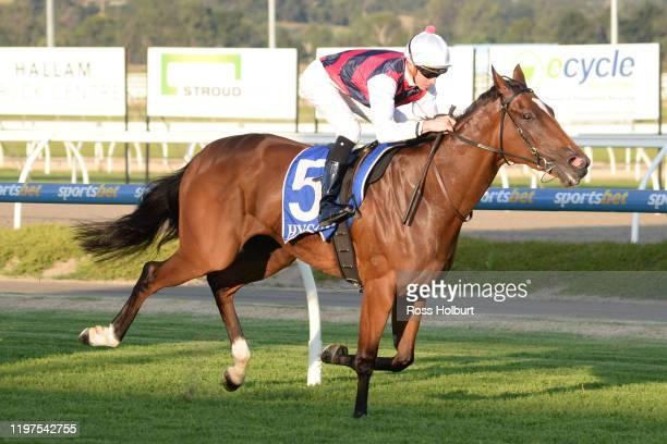 Lady D'oro ridden by Jye McNeil wins the Hertz Gippsland FM Maiden Plate at Racingcom Park Racecourse on January 30 2020 in Pakenham Australia