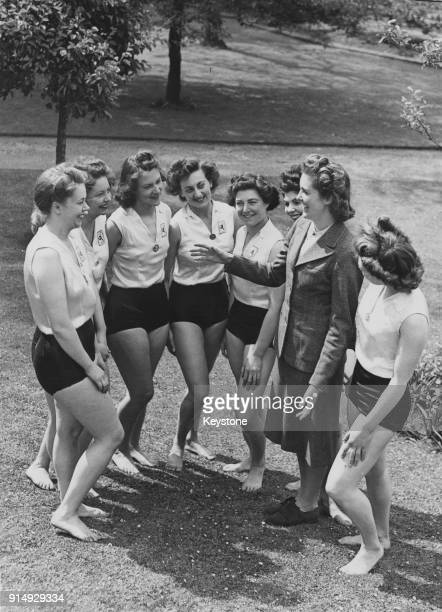 Lady DouglasHamilton formerly Ann Prunella Stack the widow of Lord David DouglasHamilton holds a rehearsal in Regent's Park London for the upcoming...