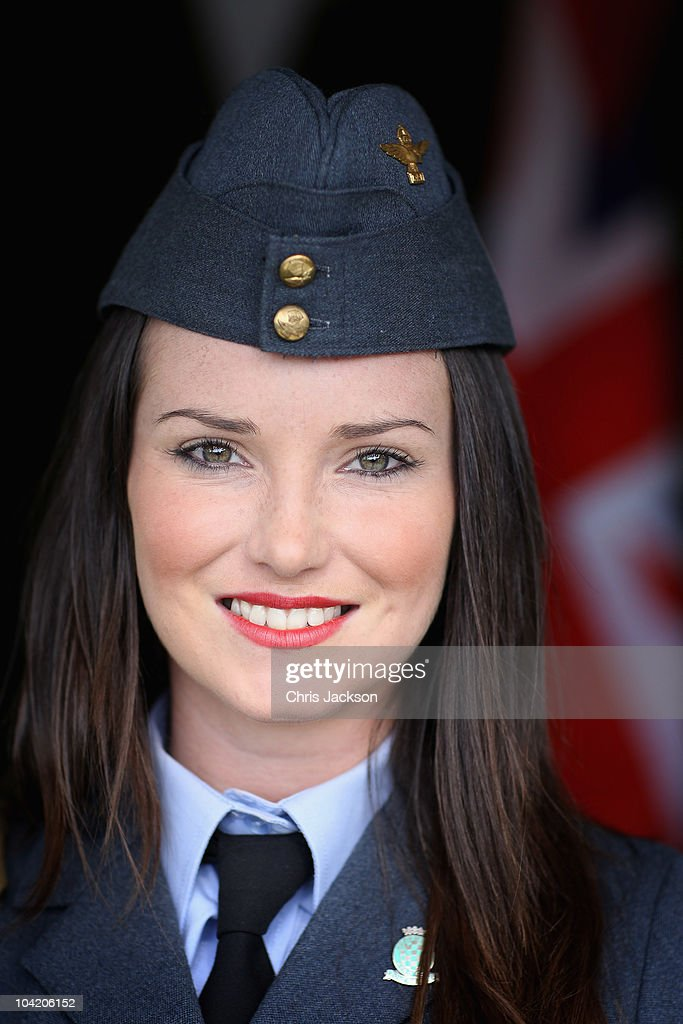 A lady dressed in vintage RAF costume attends the Goodwood Revival 2010 at Goodwood on September 17, 2010 in Chichester, England.