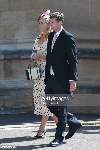 Lady Edwina Louise Grosvenor and Dan Snow attend the wedding of Prince Harry to Ms Meghan Markle at St George's Chapel Windsor Castle on May 19 2018...