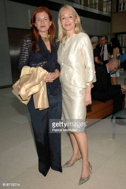 Lady Elena Foster and Judy Taubman attend Champagne Reception for the New York Premiere of 'HOW MUCH DOES YOUR BUILDING WEIGH MR FOSTER' hosted by...