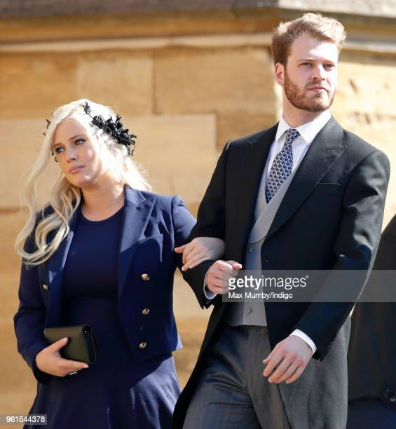 Lady Eliza Spencer Louis Spencer Viscount Althorp attend the wedding of Prince Harry to Ms Meghan Markle at St George's Chapel Windsor Castle on May...