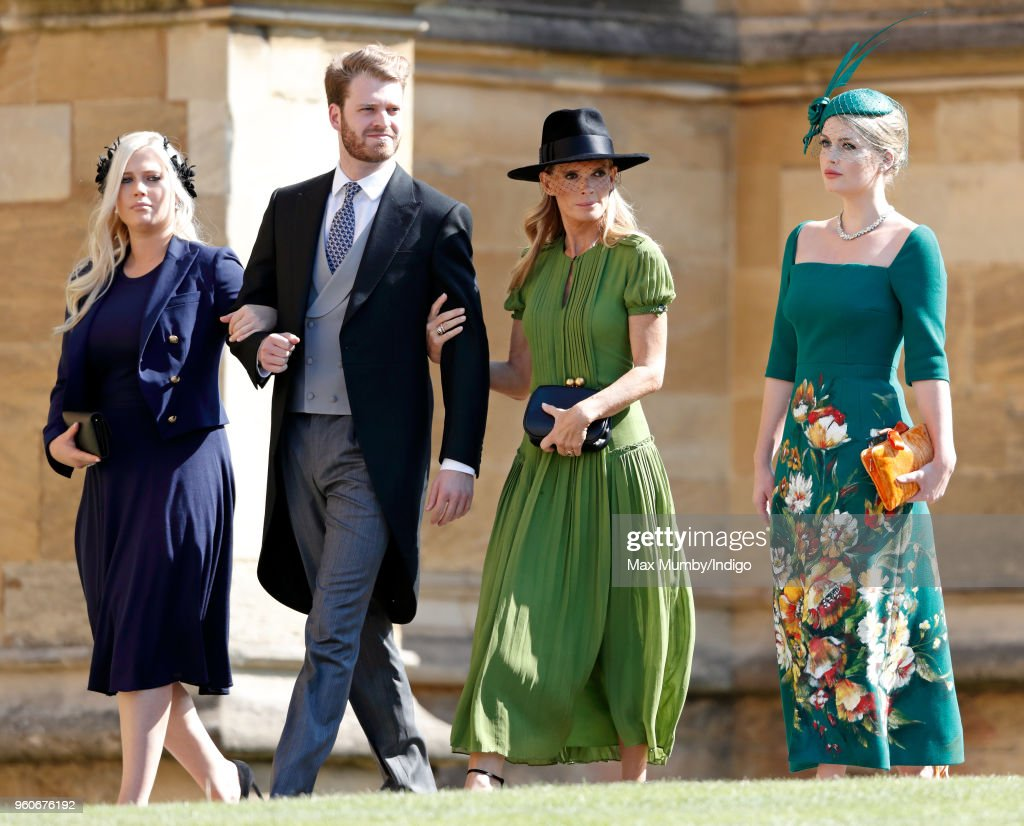 Lady Eliza Spencer, Louis Spencer, Viscount Althorp, Victoria Lockwood and Lady Kitty Spencer attend the wedding of Prince Harry to Ms Meghan Markle at St George's Chapel, Windsor Castle on May 19, 2018 in Windsor, England. Prince Henry Charles Albert David of Wales marries Ms. Meghan Markle in a service at St George's Chapel inside the grounds of Windsor Castle. Among the guests were 2200 members of the public, the royal family and Ms. Markle's Mother Doria Ragland.
