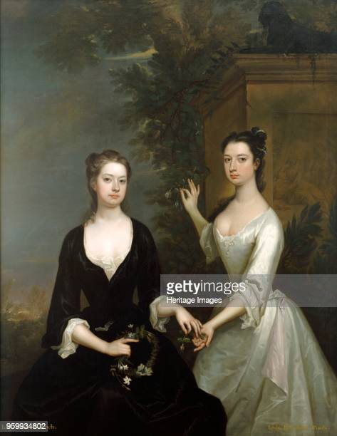 Lady Elizabeth and Lady Henrietta Finch circa 1730circa 1731 Painting in Kenwood House London From the Iveagh Bequest Artist Charles Jervas
