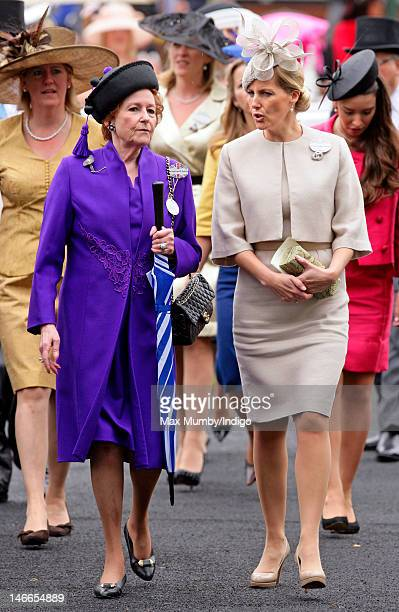 Lady Elizabeth Anson and Sophie Countess of Wessex attend Ladies Day during Royal Ascot at Ascot Racecourse on June 21 2012 in Ascot England