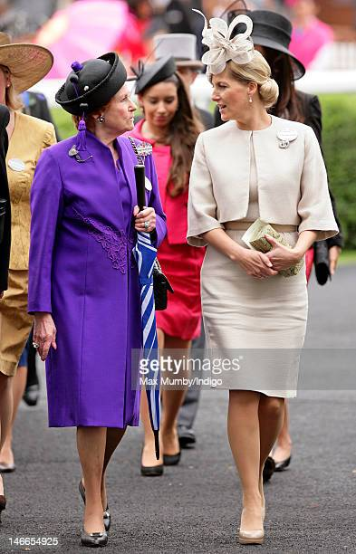 Lady Elizabeth Anson and Sophie, Countess of Wessex attend Ladies Day during Royal Ascot at Ascot Racecourse on June 21, 2012 in Ascot, England.