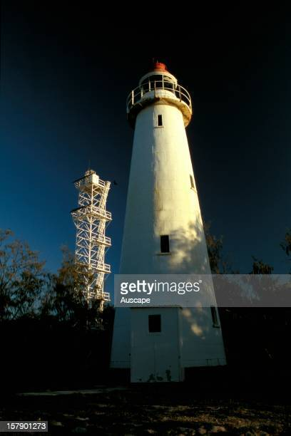 Lady Elliott Island Lighthouse , one of the first in Australia to use a timber frame substructure and cast-iron cladding. Lady Elliott Island, Great...