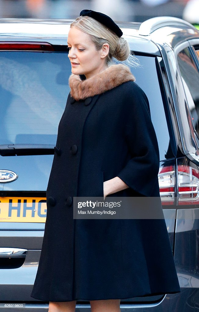 Lady Eloise Anson attends a Memorial Service for Gerald Grosvenor, 6th Duke of Westminster at Chester Cathedral on November 28, 2016 in Chester, England. Gerald Cavendish Grosvenor, 6th Duke of Westminster died aged 64 on August 9, 2016 and is survived by his wife, The Duchess of Westminster, Natalia Grosvenor, daughters Lady Tamara van Cutsem, Lady Edwina Snow and Lady Viola Grosvenor and his 25-year-old son and heir Hugh Grosvenor, 7th Duke of Westminster.