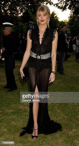 Lady Emily Compton attends the Serpentine Summer Party at The Serpentine Gallery on July 11 2007 in London England