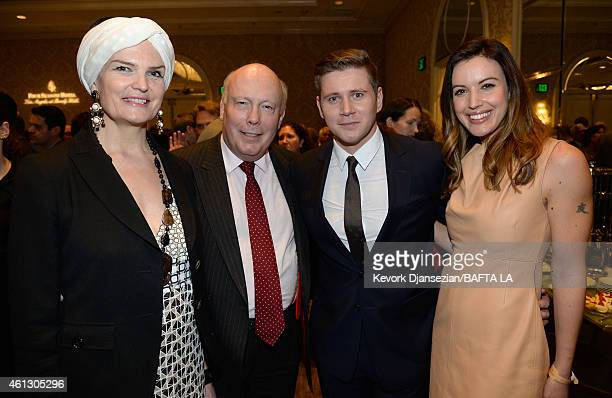Lady Emma Fellowes writer/producer Julian Fellowes actor Allen Leech in Mulberry and TV personality Charlie Webster attend the BAFTA Los Angeles Tea...