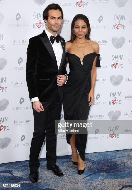 Lady Emma Weymouth and Mark Francis Vandelli attend the Chain Of Hope Gala Ball held at Grosvenor House on November 17 2017 in London England
