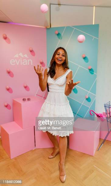 Lady Emma Weymouth at the Evian Live young suite at Wimbledon 2019 at Wimbledon on July 8 2019 in London England