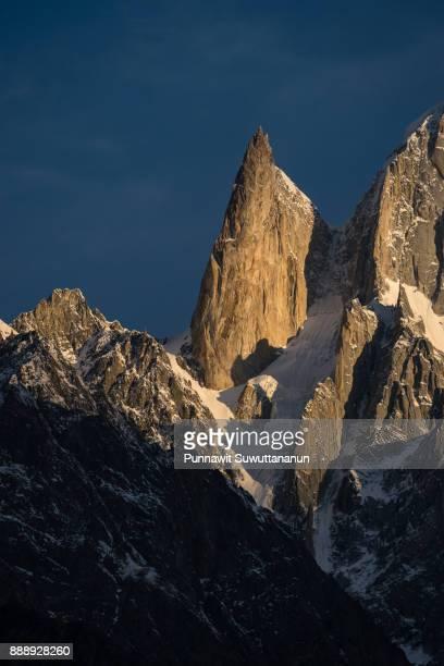 Lady finger peak, iconic peak of Hunza valley, Gilgit Baltistan, Pakistan