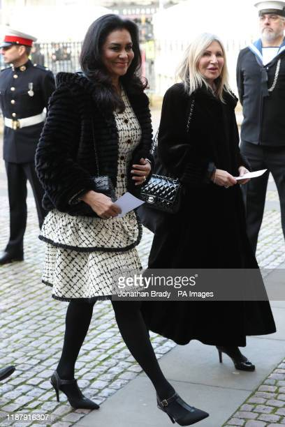 Lady ForsythJohnson arrives for a service of thanksgiving for the life and work of Sir Donald Gosling at Westminster Abbey in London
