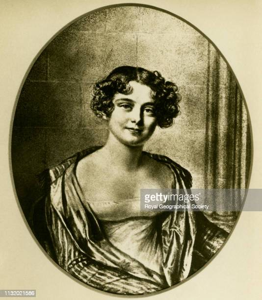 Lady Franklin Jane Griffin aged 24 Later Lady Jane Franklin Photograph of the lithograph by Joseph Mathias Negelen after the 1816 chalk drawing by...