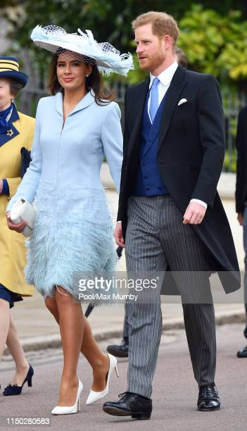 Lady Frederick Windsor and Prince Harry Duke of Sussex attend the wedding of Lady Gabriella Windsor and Thomas Kingston at St George's Chapel on May...